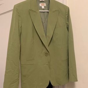 Talbots Green Ladies Blazer, Size 8, Stretch